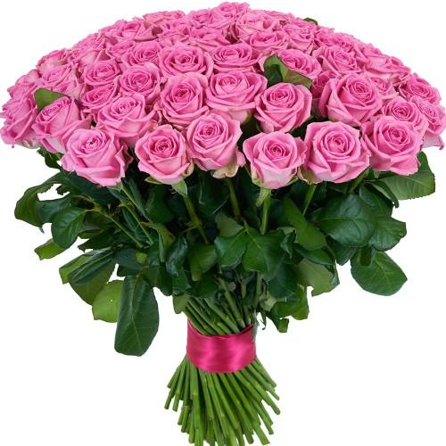 Купить на заказ Букет из 101 розовой розы с доставкой в Сатпаеве